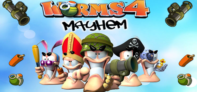 Worms 4 Mayhem Free Download FULL Version PC Game